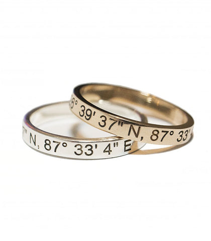 Liberti - Coordinates Ring - Silver and Gold