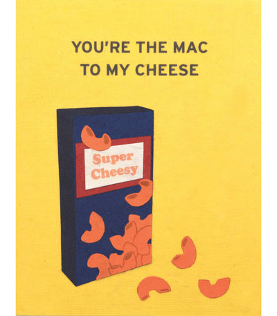 Mac and Cheese Handcrafted Greeting Card - Good Paper