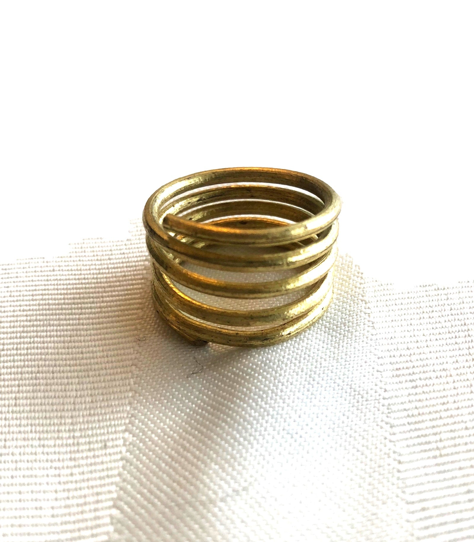 Brass Spiral Ring - NAWA