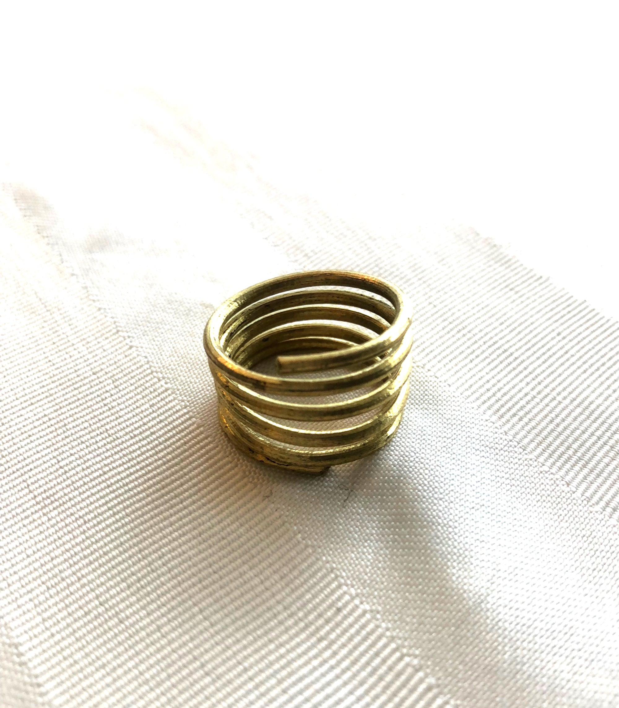 Recycled Brass Tboli Spiral Ring - NAWA
