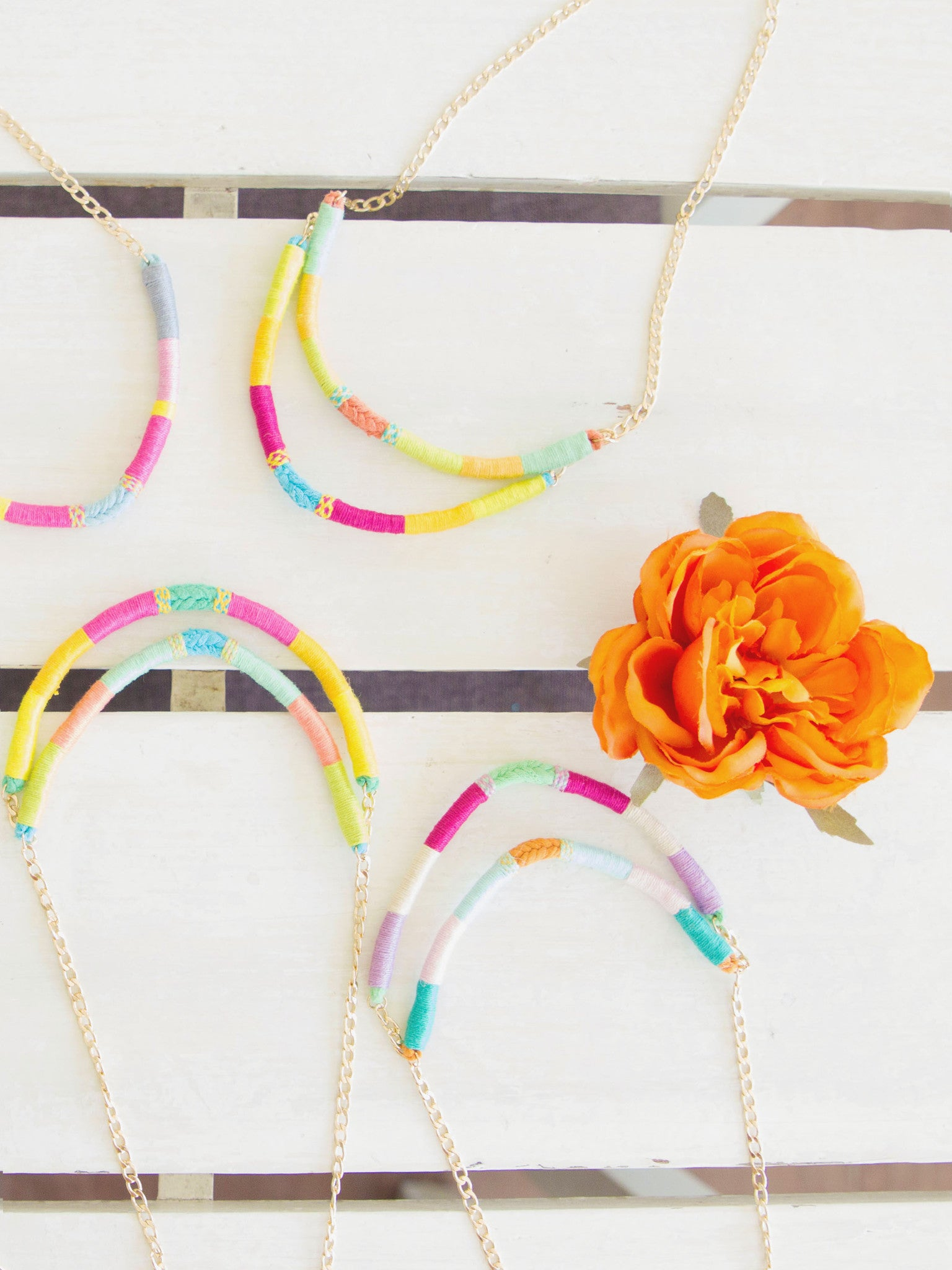 Paloma Two-Strand Upcycled Necklace - Olivia & Diego