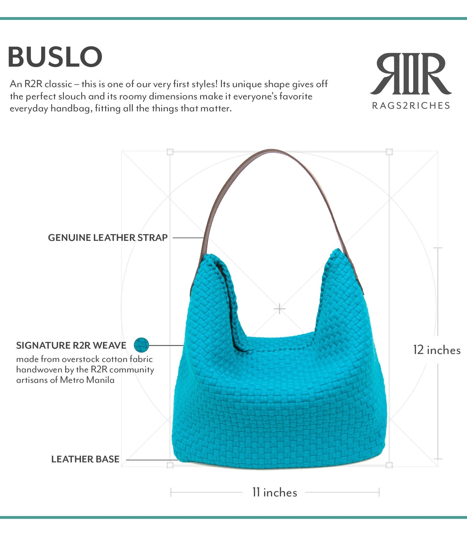 Buslo Bag Dimensions - Rags2Riches