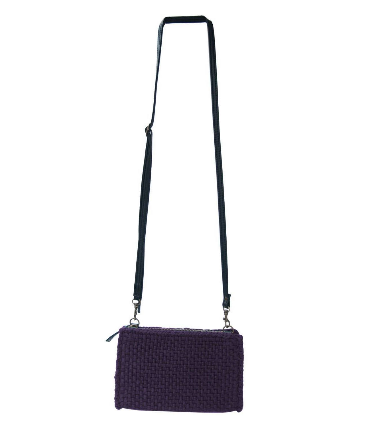 Clarence Travel Sling Bag in Eggplant - Rags2Riches