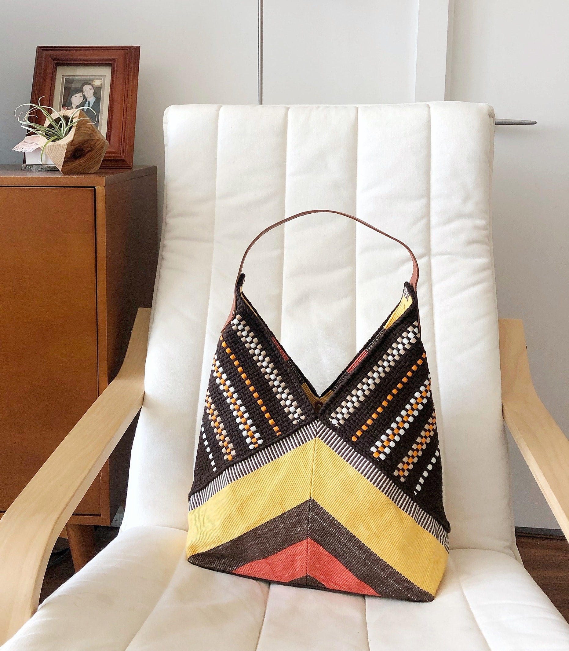 Duyan Tote on a chair - Rags2Riches