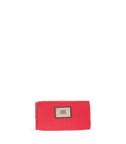Reese Wallet in Red with a white background - Rags2Riches