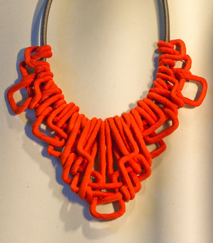Trinidad Lattice Necklace - Tangerine - Piesa