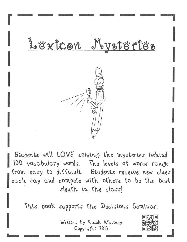 Lexicon Mysteries