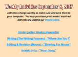Kindergarten Weekly Subscription Activities