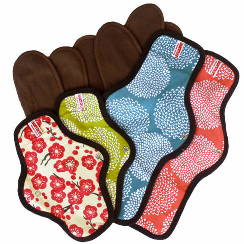 Organic Cotton Cloth Menstrual Pad Set: 2 Snap-on + 2 Maxi Pads $73.58 --> Special Price $68.99 Set Price