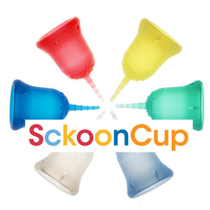SckoonCup BEGINNER's CHOICE Menstrual Cup, Made in USA FDA Approved, Organic Cotton Pouch- Sunrise - SckoonCup