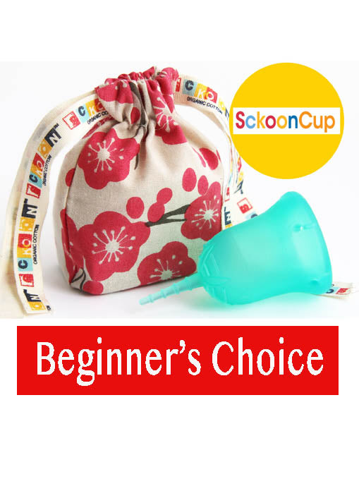 SckoonCup BEGINNER CHOICE Menstrual Cup, Made in USA FDA Approved, Organic Cotton Pouch- Harmony - SckoonCup