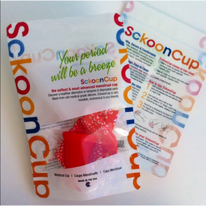 SckoonCup BEGINNER's CHOICE Menstrual Cup, Made in USA FDA Approved, Organic Pouch-Wellness - SckoonCup