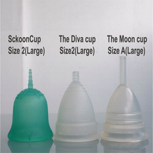 SckoonCup BEGINNER's CHOICE Menstrual Cup, Made in USA FDA Approved, Organic Cotton Pouch - Clarity - SckoonCup