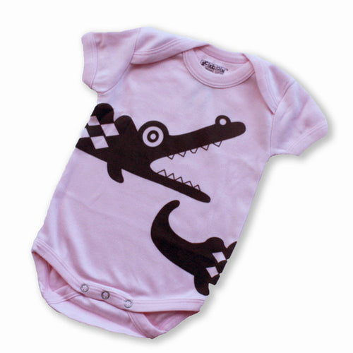 Sckoon Organic Cotton Short Sleeves Crocodile- Barely Pink - SckoonCup