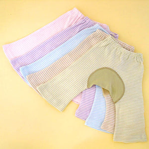 Organic Cotton Monkey Pants Light Color Stripes for Babies - SckoonCup
