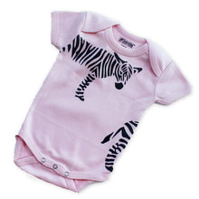 Sckoon Organic Cotton Short Sleeves Zebra Babybody - Barely Pink - SckoonCup