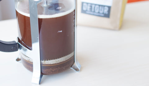 Freshly Brewed - French Press - Detour Coffee