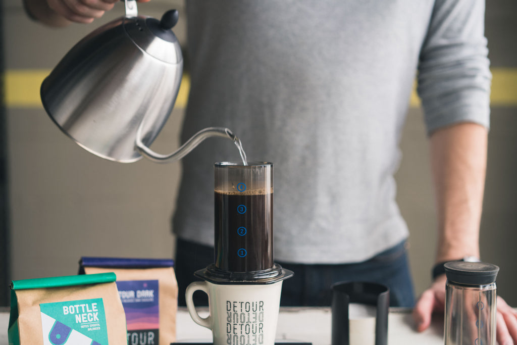 Brewing Aeropress Coffee | Detour Coffee