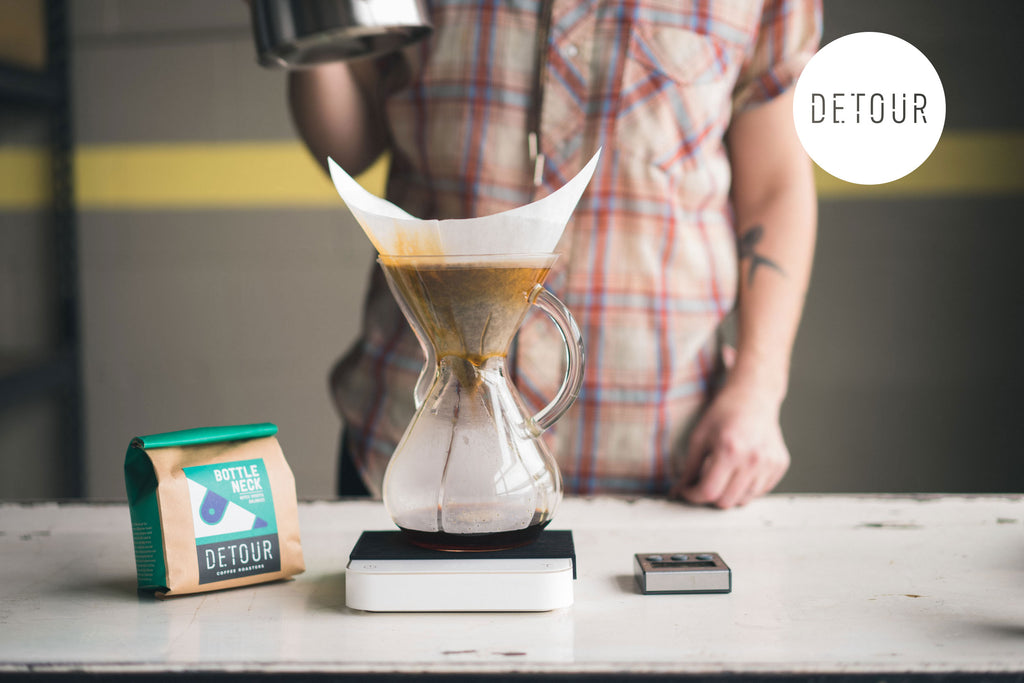 Brewing a Chemex with Fresh Coffee - DETOUR Coffee
