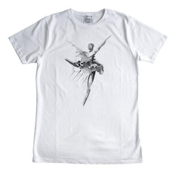 Naomi's Dancer Organic T Shirt White