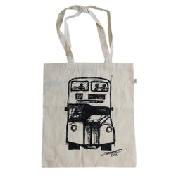 David's Bus Organic Cotton Bag Natural