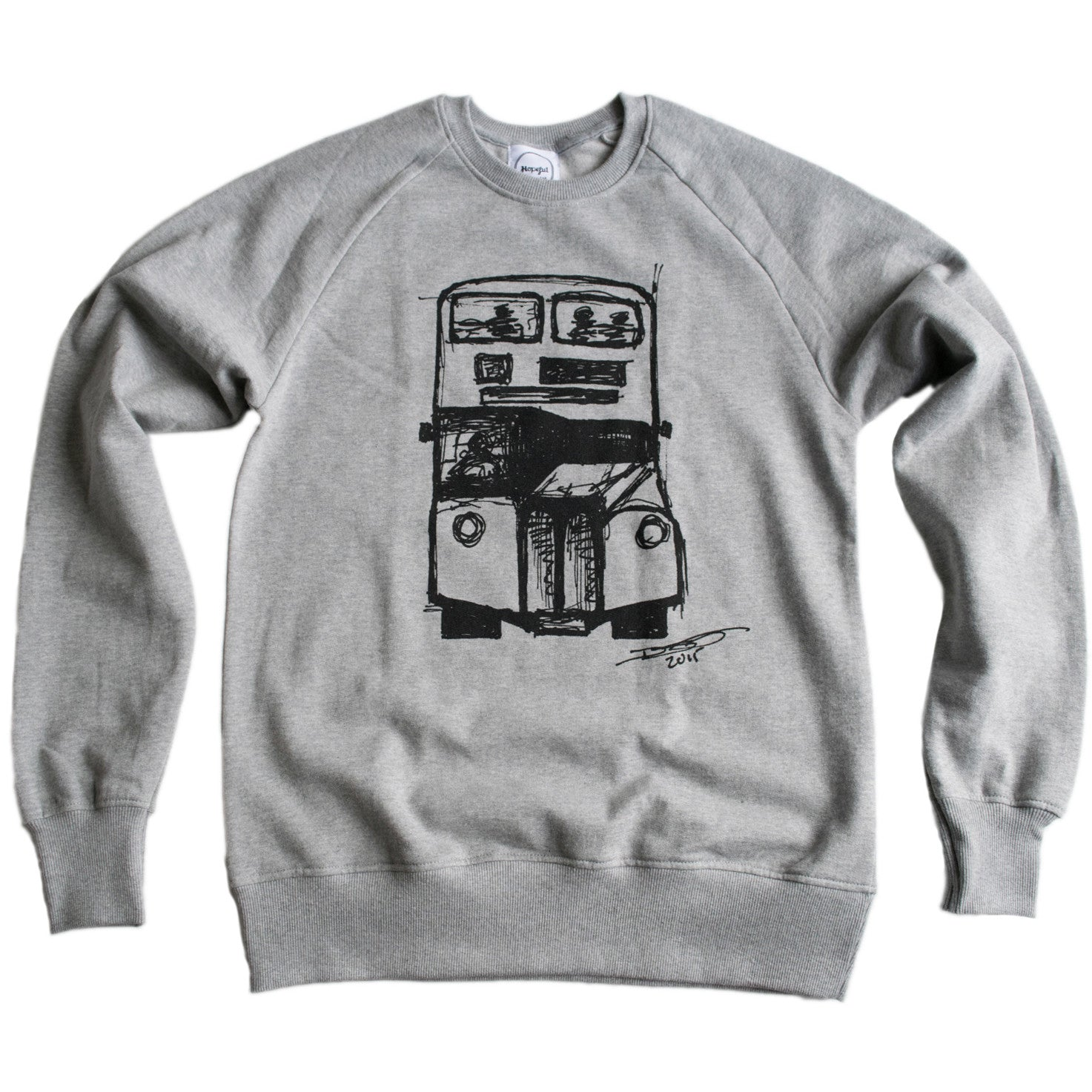 David's Bus Organic Sweatshirt Grey