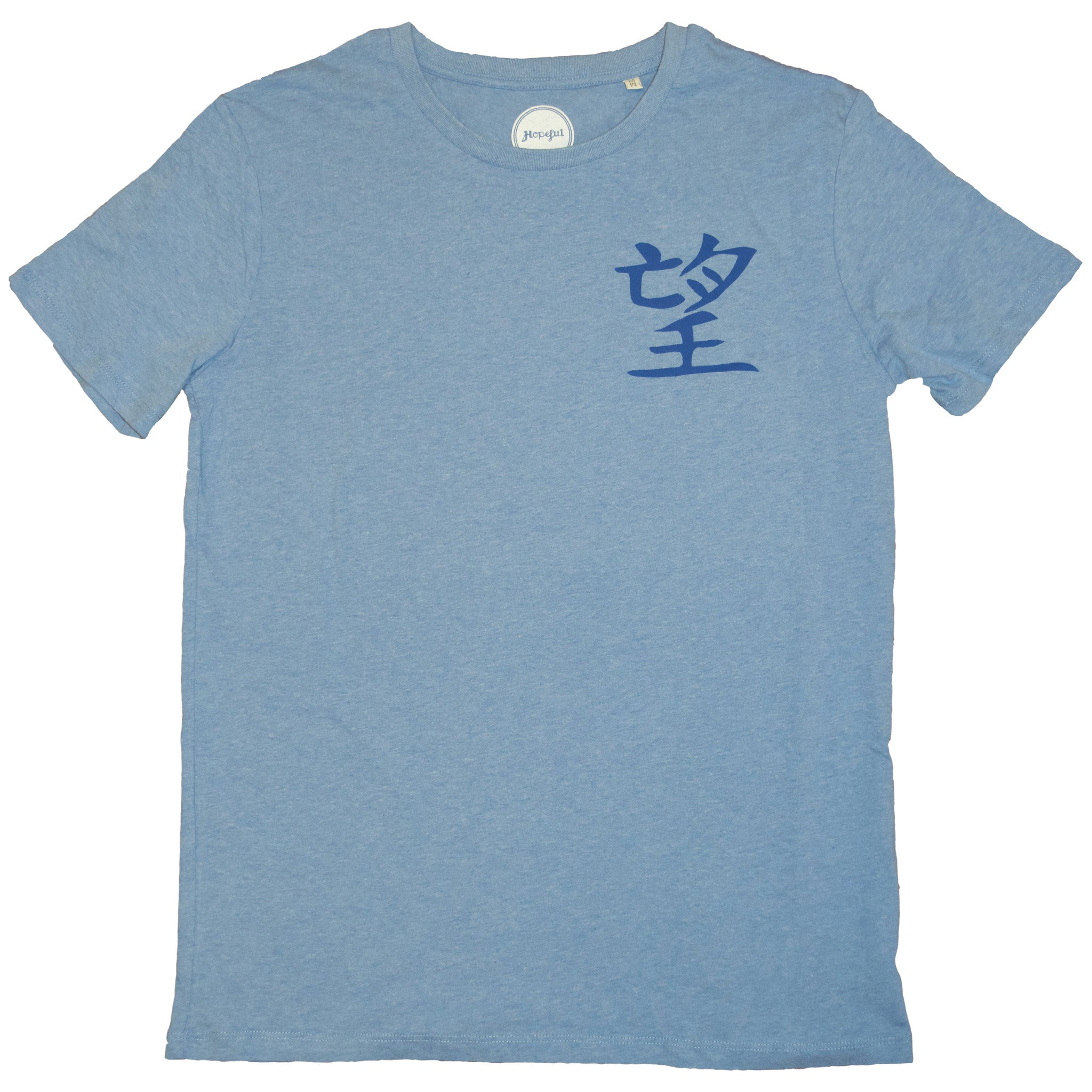 "ROL's ""Hope"" Organic T Shirt Blue"