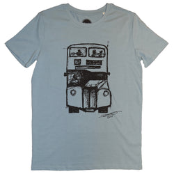 David's Bus Organic T Shirt Blue
