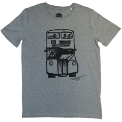 David's Bus Organic T Shirt Grey