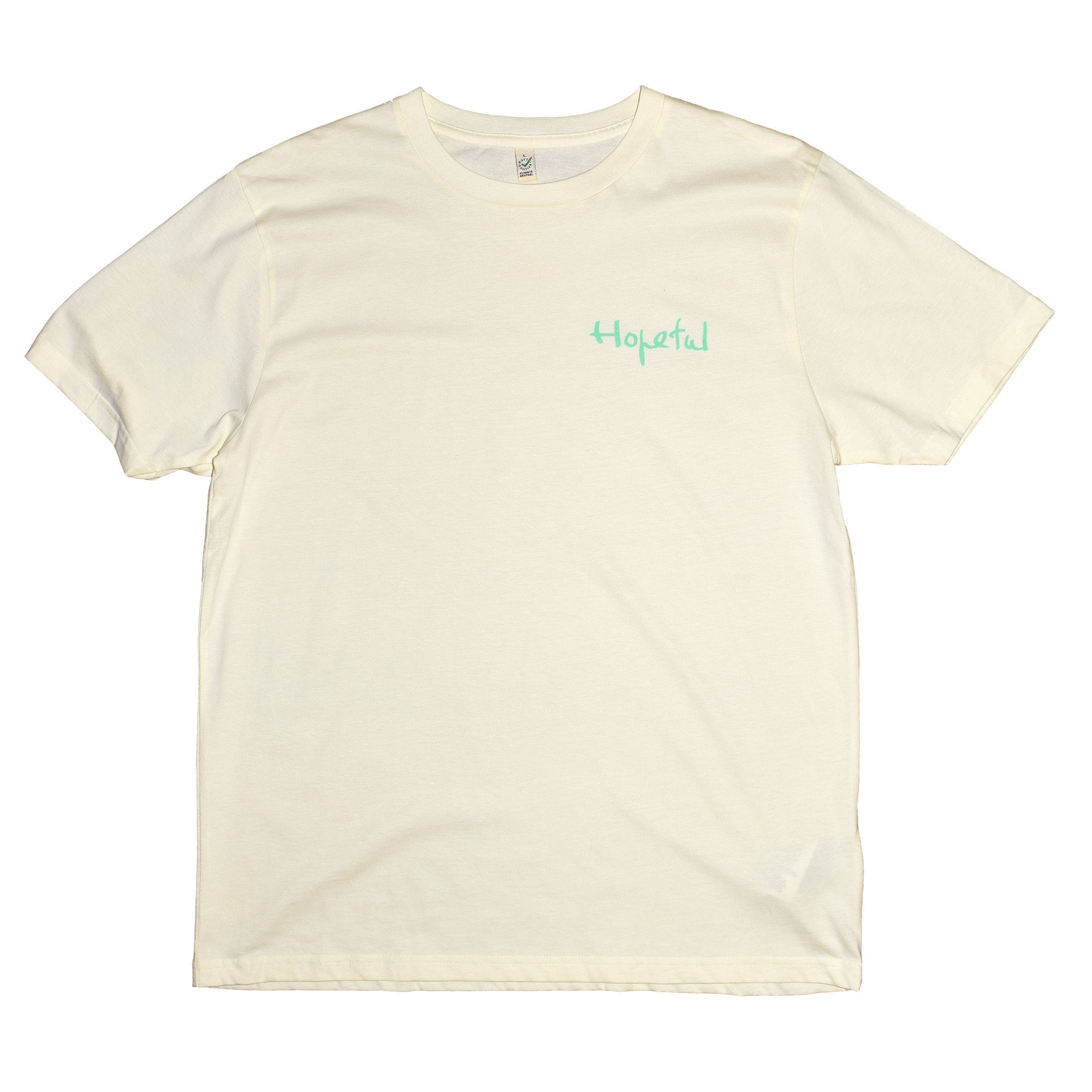 Hopeful x Homeless Fonts Organic Tee // Pale