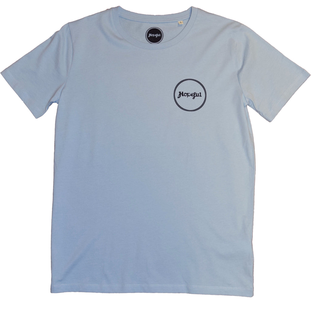 Hopeful Roundel Organic T Shirt Blue