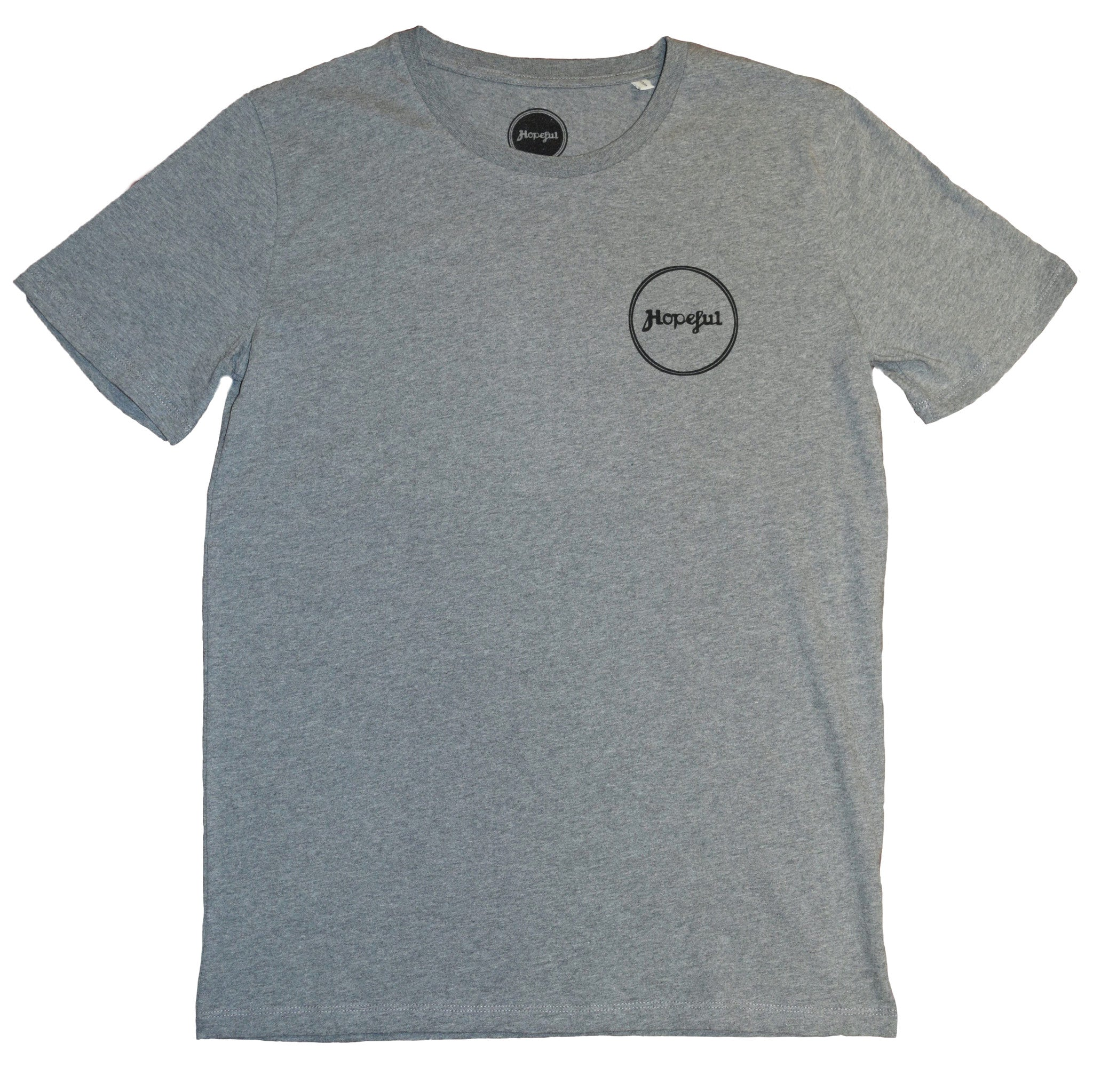 Hopeful Roundel Organic T Shirt Grey