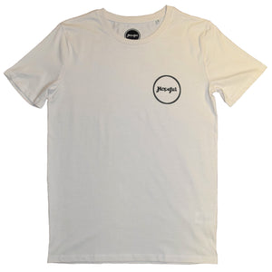 Hopeful Roundel Organic T Shirt Vintage White