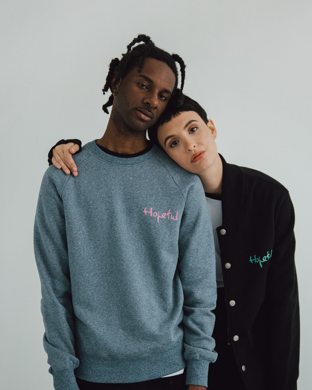 Hopeful x Homeless Fonts Organic Sweat // Blue