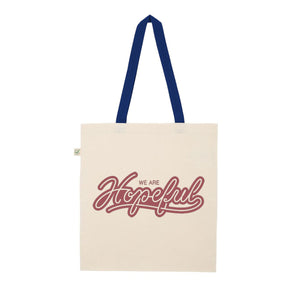 We Are Hopeful Organic Tote // Navy Handle
