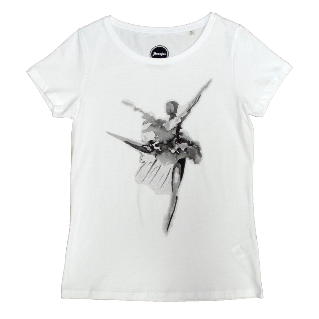 Naomi's Dancer Organic Fitted Ladies T Shirt White