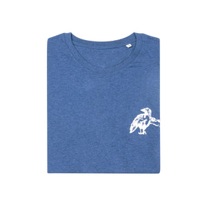 Zin V.'s Encouragement Organic Tee // Deep Blue
