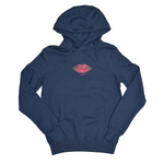 Zin V.'s Money Lips Organic Hoodie // Heather Denim