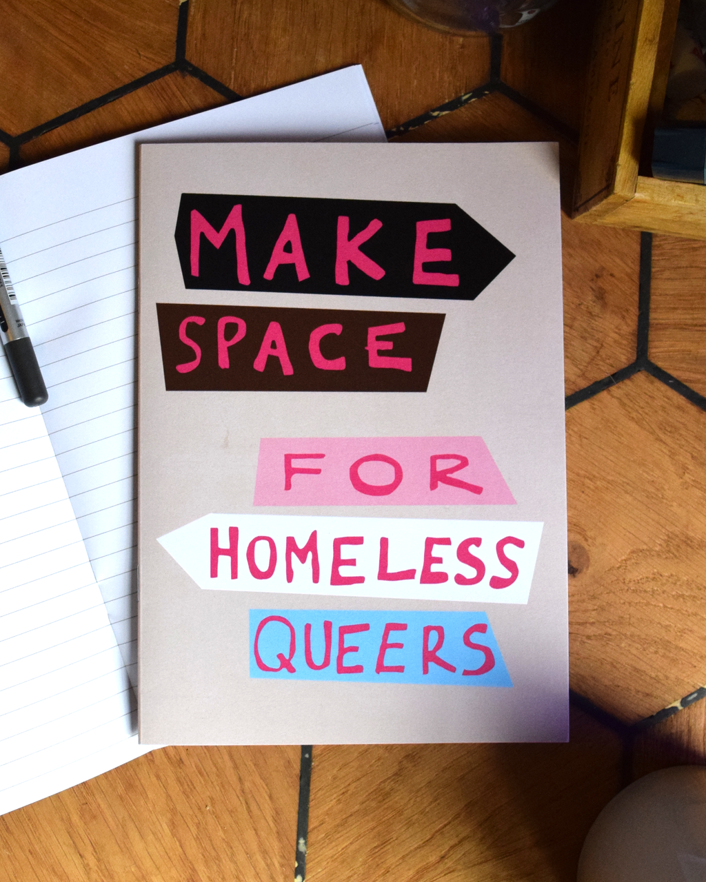 Make Space for Homeless Queers A5 Recycled Notebooks (pack of 3)