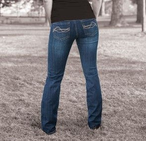 Dark Wash Western Edge Jean by Cowgirl Tuff