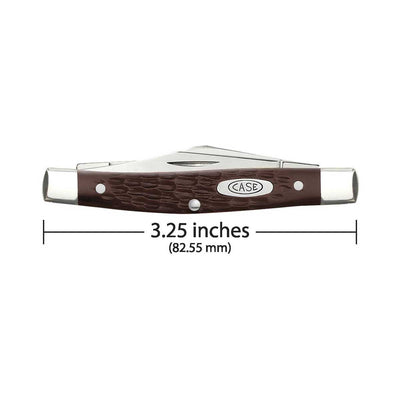 Case Knives Medium Stockman Sloped Bolster Knife - Brown Synthetic