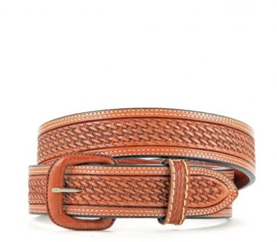 Men's Basket Weave Brown Belt