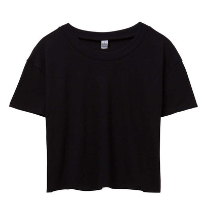 Alternative Women's Headliner Vintage Jersey Cropped T-Shirt - Black
