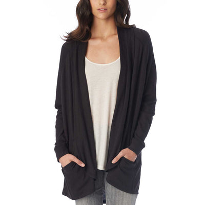 Alternative Women's Zen Vintage Heavy Knit Wrap - Black