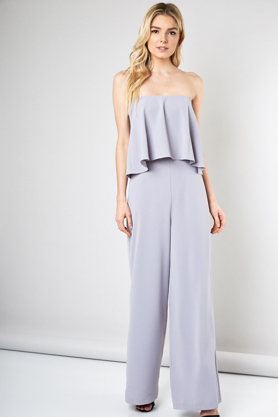 Dove Grey Popover Jumpsuit