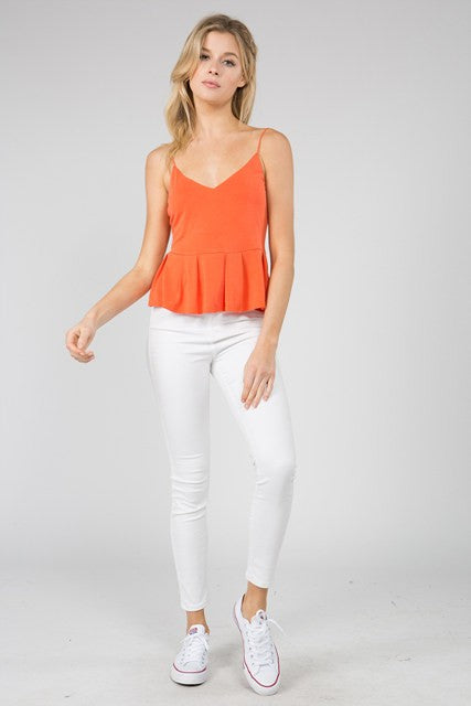 Fanco Orange Crop Tank