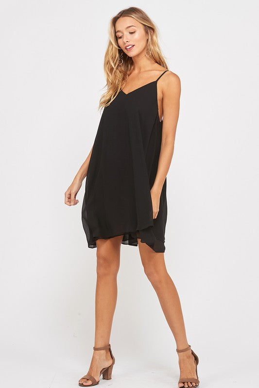 Wish List Swing With Me Black Dress