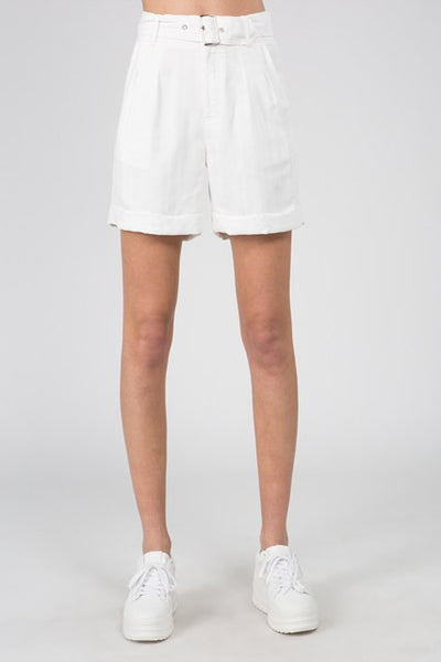 Throwback Loose High Waisted White Shorts