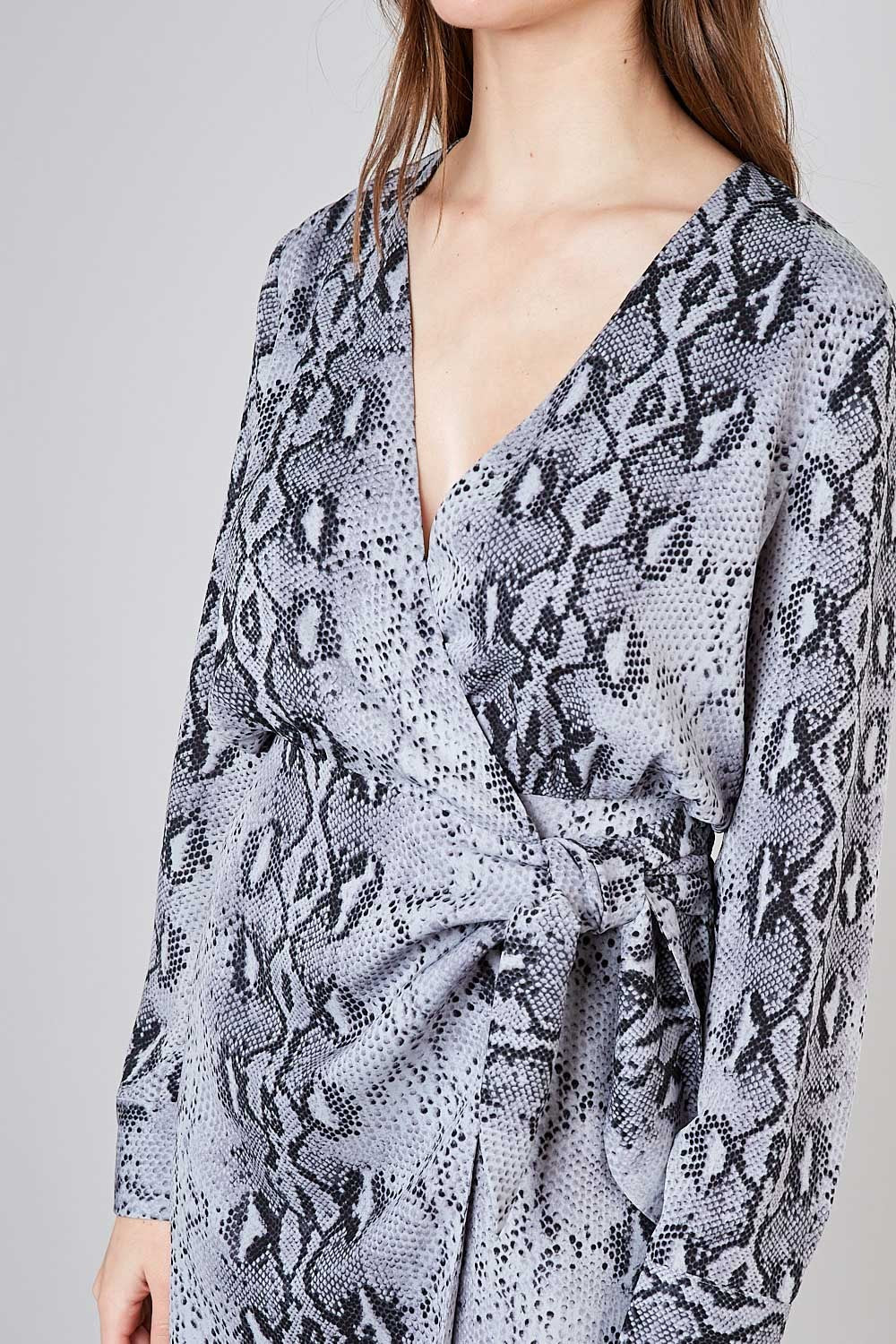 Do+Be Snakeskin Women's Wrap Dress