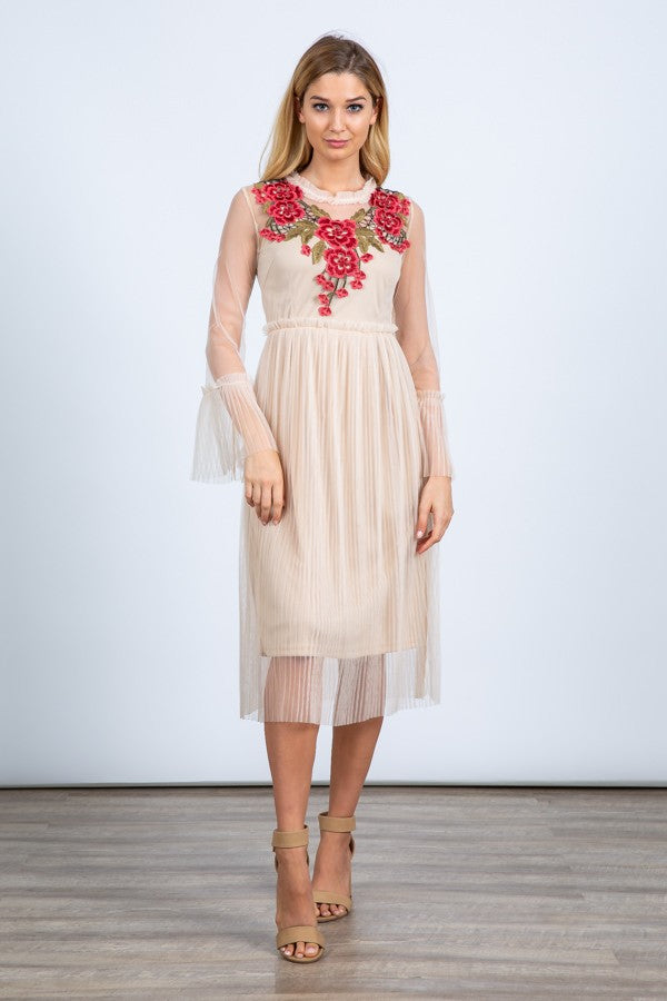 Women's Sheer Floral Dress